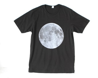 Limited Edition men's FULL MOON size small OR medium Black soft t-shirt
