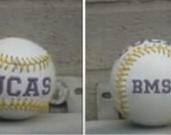 Embroidered baseballs