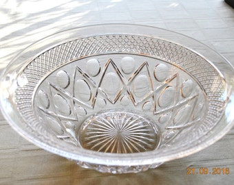 """Imperial Clear Glass 11"""" Cape Cod Salad Bowl"""