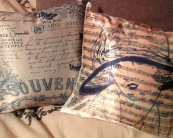 Beautiful vintage style cushion cover