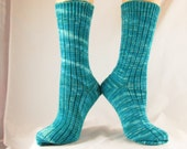 Caribbean Blue Hand Cranked Socks-Free Shipping