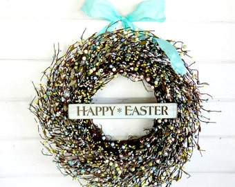 Spring Wreath-Spring Door Wreaths-Easter Wreath-Pastel Berry Wreath-Scented Wreath-Housewarming Gift-Spring Home Decor-Wall Hangings