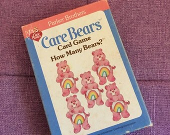 Care Bears Card Game How Many Bears Parker Brothers Playing Card Deck 1983 80s Vintage