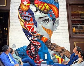 Audrey Hepburn Street Art