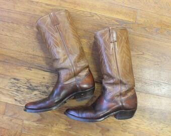 10 1/2 Women's / Cowboy BOOTS / Vintage Western Boots / Vintage Men's Size 9 Shoe's