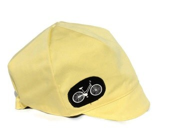 Kids Bike Hat, Reversible Summer Hat, Yellow Hat, Spring Summer Hat, Toddler or Child Hat-  XXS S M L