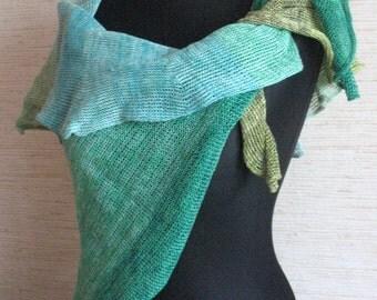 Linen Scarf Linen Cape Green Salad Moss Organic Linen Women's Scarf Pure Linen Spring Clothing
