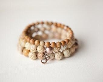 Sandstone Bracelets, Bohemian Bracelet, Stack Bracelets, Gypsy Bracelet, Neutral Bracelets, Natural Stones, Stretch Bracelets, Trending