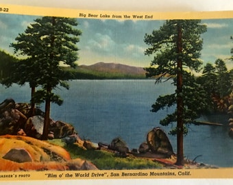 Vintage Big Bear California Linen Postcards in Excellent Condition ~ 32