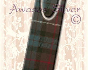 Metal bookmark with high quality printed original images. Clan Fraser Hunting Tartan on high quality metal bookmark. Clan Fraser Hunting