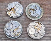 0.9 inch Set of 4 vintage Soviet Russian wrist watch movements.