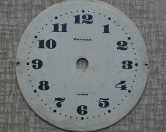 Vintage Soviet cardboard alarm clock face,dial.