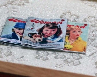 Dolls House Miniature Woman Magazines Set Of 3