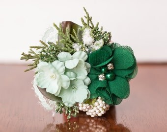 Christmas Clip or Headband in Shades of Green, sparkles, and Mint - M2M Pinecones WDW - Photo Prop - Baby Headband - Newborn Clip