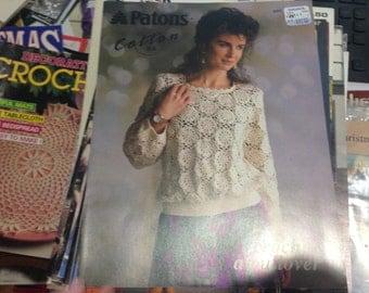 Patons Cotton d.k. Crochet pullover No.17069