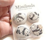 Panda Fabric Button Magnets 29mm