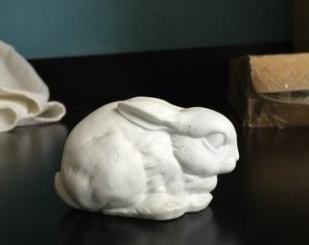 """Kaiser bunny rabbit porcelain Kaiser white """"lying down bunny rabbit"""" W Germany"""