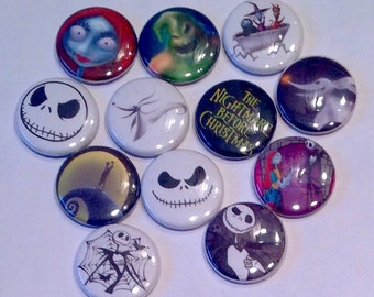Nightmare Before Christmas pins or magnets 6pc      Read description. You choose 6