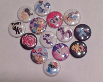 My Little Pony pins or magnets 6pc. Read description. You choose 6