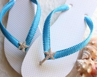 Design your own flip flops - CUSTOM Bridesmaid gift idea, Bridal Party, Wedding party, Bridal shower gift, wedding gift, retirement gift