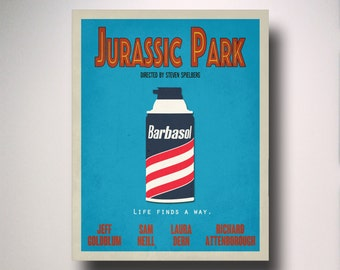 Jurassic Park Inspired  Minimalist Movie Poster