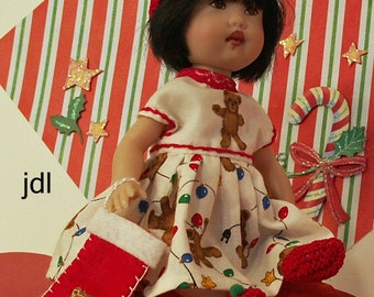 Holiday Bears for Riki, Tompkin, Poppy, Alisha Kish by JDL Doll Clothes