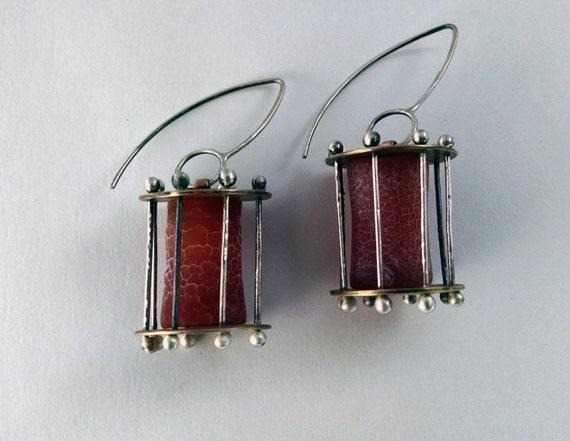 Fire Cage Earrings