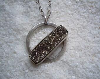 Drusy Jewelry Artisan Jewelry Druzy and Silver Necklace