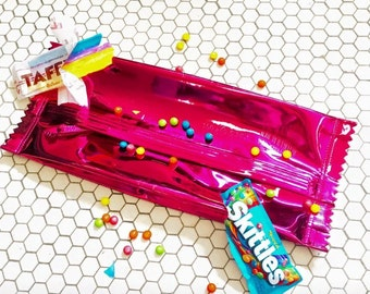 Metallic Candy Wrapper Clutch