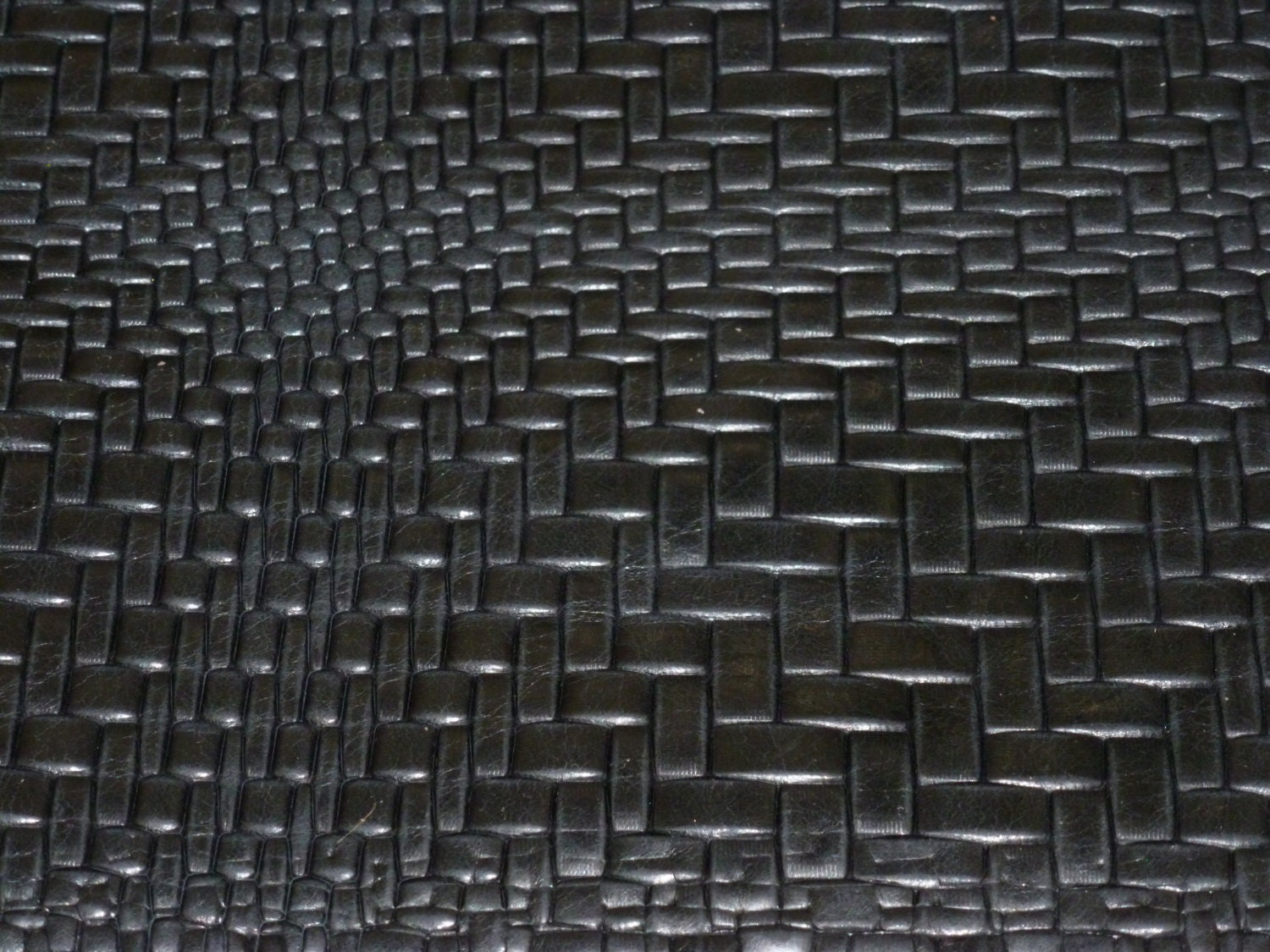 Basket Weave Pattern On Leather : Leather black braided basket weave pattern by