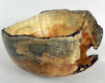 Wood bowl, Natural Edge Box Elder, 469