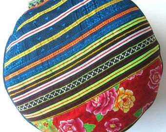 Blue Rose  Meditationcushion Yoga Floor Seat Cushion - Zafu Pillow Handmade from Germany