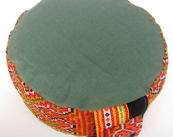 Green Meditation Cushion Yoga Relaxpillow Cushion ZAFU  & POUF ORIGINAL Seatcushion