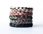 Braided Leather Bracelet Collection / Winter Solstice