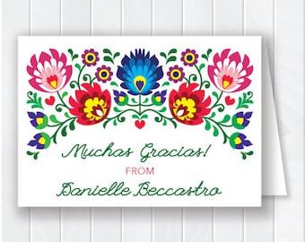 Cinco de Mayo Thank You Card, Fiesta Stationery, Cinco de Mayo Note Card, Fiesta Thank You Card, Printable Thank You Card