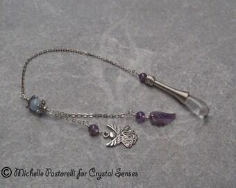 Angelic Clear Quartz Dowsing Pendulum (DP0285)