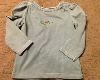 Christmas Children holiday top green