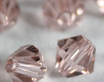 Swarovski Bicone Crystal Beads Xilion 5328 VINTAGE ROSE - Available in 3mm, 4mm, 5mm and 6mm