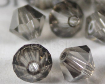 144 pcs Swarovski Element 5328 4mm Bicone Xilion Crystal Beads METALLIC SILVER