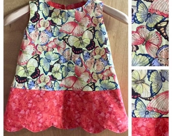 A-Line  Butterfly Boho Spring/Summer Dress, size 3t