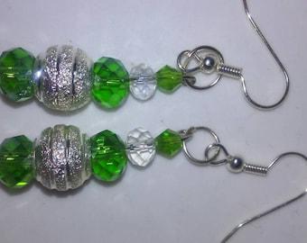 Frosty Lime drop earrings