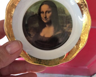 Mona Lisa Limoges plate France
