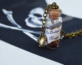 Pirate Necklace, Tia Dalma Necklace Bottle of Talismans Magic Voodoo Sorceress Pirates of the Caribbean Calypso, Pirate Cosplay
