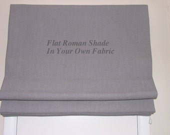 Roman Shade (24 x 48 ) Standard - Flat  with Privacy Lining and Cord Lock Lift System Send 1-3/4 Yards of Your Own Fabric