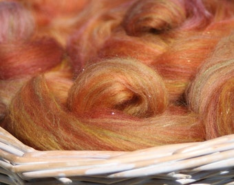 Autumn Blaze - Handpulled roving nests - 100g