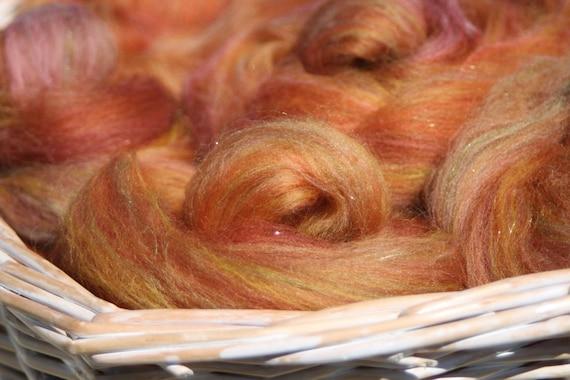 Autumn Blaze - Handpulled roving nests - 100g