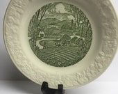 Transferware Taylor Smith and Taylor 7 inch Salad Plate 1955