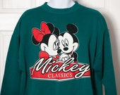 Vintage 90s MICKEY Mouse Sweatshirt - Mickey Classics - XL