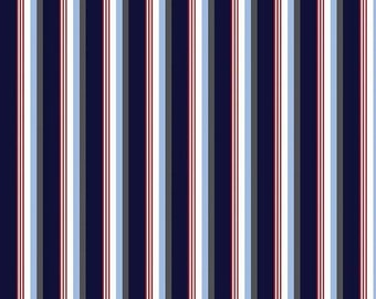 ON SALE Sporty Blue Stripes from Riley Blake