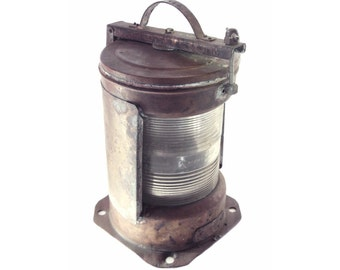 Antique Copper ship light with clear lens